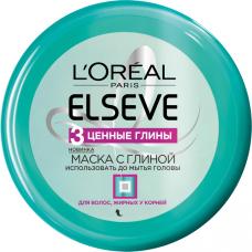 """L'Oréal Paris (Лореаль) Elseve Маска с глиной """"Эльсев, 3 Ценные Глины"""", для волос, жирных у корней и сухих на кончиках, 150 мл"""
