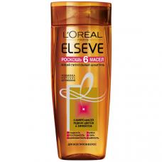 """L'Oreal Paris (Лореаль) Elseve Шампунь """"Эльсев, Роскошь 6 масел"""", питательный, для всех типов волос, 400 мл"""
