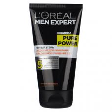 """L'Oreal Paris (Лореаль) Средство для умывания """"Men Expert (Мен Эксперт) Pure Power (Пюр Пауэр), Черный уголь"""", 150 мл"""