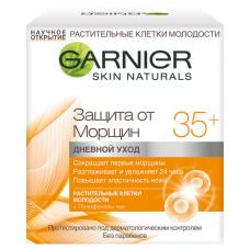 """Garnier (Гарньер) Крем для лица """"Антивозрастной уход Защита от морщин 35+"""" с экстрактом чайного листа, кофеином, против морщин, дневной, 50 мл"""