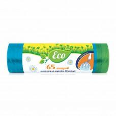 Мешки для  мусора Русалочка Эколайн с завязками 65 л 15шт