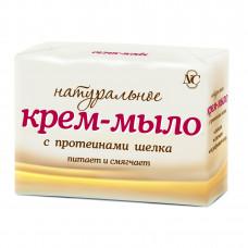 10605 Крем-мыло «Натуральное» с протеинами шелка  4*100г  /Невская Косметика/