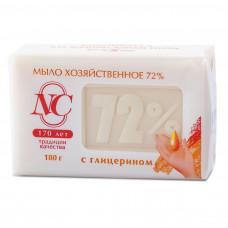 11145 Хозяйственное мыло «72%» с глицерином  180г   /Невская Косметика/