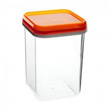 Банка квадратная для сыпучих продуктов 1,2л/Полимербыт
