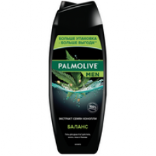 Palmolive (Палмолив) Men Баланс Гель для душа 4 в 1 для тела, волос, лица и бороды с экстрактом семян конопли, 500 мл