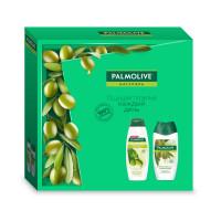 """Подарочный набор Palmolive (Палмолив) Натурэль """"Увлажнение с маслом оливы"""" (гель для душа 250 мл и шампунь 200 мл)"""