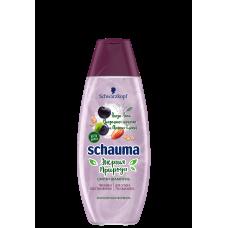 Шампунь SCHAUMA/ШАУМА  Энергия Природы Смузи Ягоды Асаи, Миндальное молочко и Овсяные Хлопья Питание и Восстановление для сухих и тусклых волос 400 мл