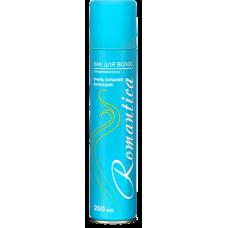 148.12 Лак для укладки волос РОМАНТИКА с Провитамином B5 очень сильная фиксация 200мл. (голубой)