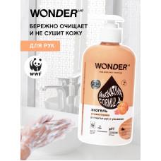 WONDER LAB \ Гипоаллергенный экогель для мытья рук и умывания Розовые персики  500мл/ Вондер Лав