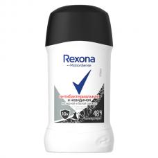6616 дезодорант Rexona/Рексона антиперспирант-карандаш Антибактериальная и Невидимая на черной и белой одежде 40 мл