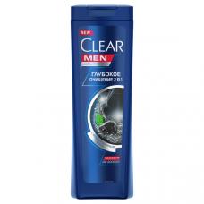 7082/0373  шампунь Clear Men/Клеар мен против перхоти для мужчин 2в1 Глубокое очищение антибактериальный эффект 200 мл