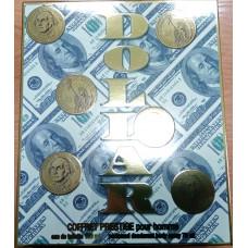 """Подарочный набор """"Новый доллар"""" для мужчин (туалетная вода 100мл и дезодорант аэрозольный 75мл) /Абар/"""