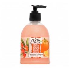 """2637 Мыло жидкое """"Vesta"""" (Веста) 2в1 облепиха и апельсин 500мл.Алва"""
