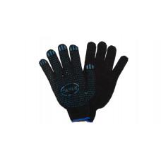 2884 Перчатки хлопчатобумажные  с ПВХ черные.4-х ниточные /Автоэлемент