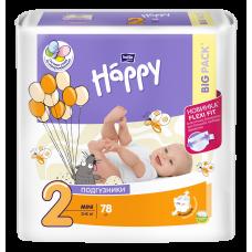 Подгузники для детей bella baby Happy (Белла Хэппи), размер Mini, 3-6 кг, 78 шт.