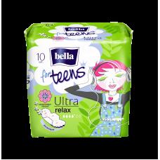 Супертонкие женские гигиенические впитывающие ароматизированные прокладки  Ultra relax a'10 марки «bella for teens» (Бела фо тинс)
