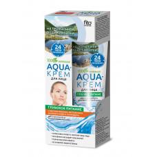 Aqua-крем для лица на термальной воде Камчатки «Глубокое питание»  с маслом персика, экстрактом зеленого кофе и календулы  (для нормальной и комбинированной кожи) серии «Народные Рецепты», 45мл /Фитокосметик