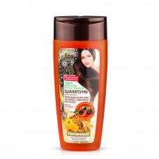 Шампунь «Народные рецепты» для всех типов волос «Горчичный» с маслом зародышей пшеницы и медом, 270мл/Фитокосметик