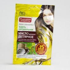 Масло для волос «Народные рецепты» дегтярное с экстрактами красного перца, чабреца и можжевельника, 20мл/Фитокосметик