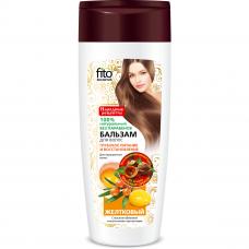 Бальзам для окрашенных волос «Желтковый» с маслом облепихи и молочными протеинами серии «Народные рецепты», 270мл/Фитокосметик