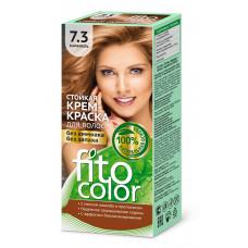 """Стойкая крем-краска для волос серии """"Fitocolor""""/фитоколор/, тон 7.3 карамель 115мл/Фитокосметик"""
