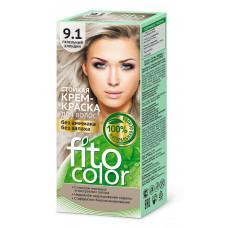"""Стойкая крем-краска для волос серии """"Fitocolor""""/фитоколор/, тон 9.1 пепельный блондин 115мл/Фитокосметик"""