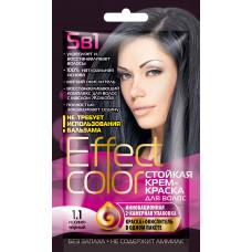 Cтойкая крем-краска для волос серии «Effect Сolor» 50мл, тон 1.1 иссиня-черный/Фитокосметик
