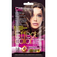 Cтойкая крем-краска для волос серии «Effect Сolor» 50мл, тон 3.0 тёмный каштан/Фитокосметик