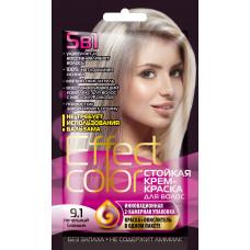 Cтойкая крем-краска для волос серии «Effect Сolor» 50мл, тон 9.1 пепельный блондин/Фитокосметик