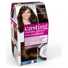 """L'Oreal Paris (Лореаль) Стойкая краска-уход для волос """"Casting Creme Gloss"""" (Кастинг)  без аммиака, оттенок 300, Двойной Эспрессо"""