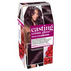 """L'Oreal Paris (Лореаль) Стойкая краска-уход для волос """"Casting Creme Gloss"""" (Кастинг)  без аммиака, оттенок 316, Сливовый Сорбет"""