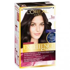 """L'Oreal Paris (Лореаль) Стойкая крем-краска для волос """"Excellence"""" (Экселланс), оттенок 3.00, Темно-каштановый"""
