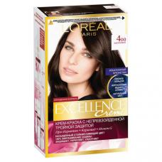 """L'Oreal Paris (Лореаль) Стойкая крем-краска для волос """"Excellence"""" (Экселанс) , оттенок 4.00, Каштановый"""