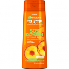 """5811 Garnier Fructis Восстанавливающий Шампунь для волос """"Фруктис, SOS Восстановление"""", для секущихся и очень поврежденных волос, 250 мл"""