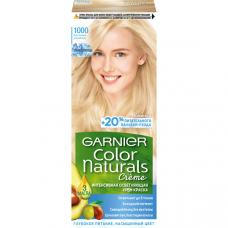 """Garnier (Гарньер) Стойкая крем-краска для волос """"Color Naturals"""" (Колор Нэчралс), сияющий блонд без желтизны, оттенок 1000, Кристальный Ультраблонд, 110 мл."""