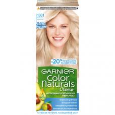 """Garnier (Гарньер) Стойкая крем-краска для волос """"Color Naturals"""" (Колор Нэчралс), сияющий блонд без желтизны, оттенок 1001, Пепельный Ультраблонд, 110 мл."""