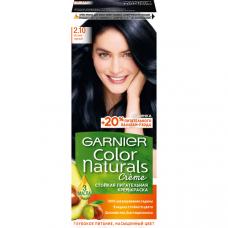 """Garnier  (Гарньер) Стойкая питательная крем-краска для волос """"Color Naturals""""( Колор Нэчралс) с 3 маслами, оттенок 2.10, Иссиня черный, 110мл"""