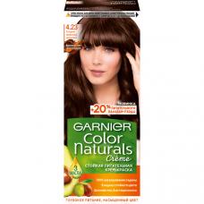 """Garnier (Гарньер) Стойкая питательная крем-краска для волос """"Color Naturals""""(колор Нэчралс) с 3 маслами, оттенок 4.23,холодный трюфельный каштан 110 мл"""