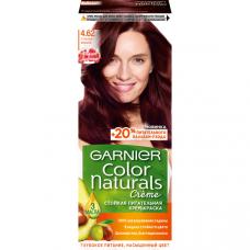 """Garnier (Гарньер) Стойкая питательная крем-краска для волос """"Color Naturals"""" (Колор Нэчралс) c 3 маслами, оттенок 4.62, Спелая вишня, 110 мл"""