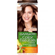 """Garnier (Гарньер) Стойкая питательная крем-краска для волос """"Color Naturals"""" (Колор Нэчралс) с 3 маслами, оттенок 5.15, Пряный эспрессо, 110мл"""