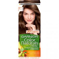 """Garnier  (Гарньер) Стойкая питательная крем-краска для волос """"Color Naturals"""" (Колор Нэчралс) с 3 маслами, оттенок 5.1/2, Мокко, 110 мл"""