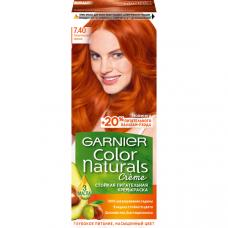 """Garnier (Гарньер) Стойкая питательная крем-краска для волос """"Color Naturals"""" (Колор Нэчралс) с 3 маслами, оттенок 7.40, Пленительный медный, 110 мл"""