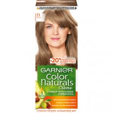 """Garnier (Гарньер) Стойкая питательная крем-краска для волос """"Color Naturals"""" (Колор Нэчралс) c 3 маслами, оттенок 7.1, Ольха, 110 мл"""