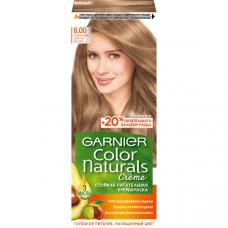 """Garnier (Гарньер) Стойкая питательная крем-краска для волос """"Color Naturals"""" (Колор Нэчралс) с 3 маслами, оттенок 8.00 Глубокий Светло-Русый, 110 мл"""