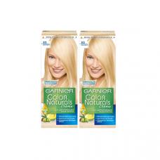 """Garnier (Гарньер) Стойкая питательная крем-краска для волос """"Color Naturals"""" (колор Нэчралс), оттенок E0, Супер блонд, 2 шт"""