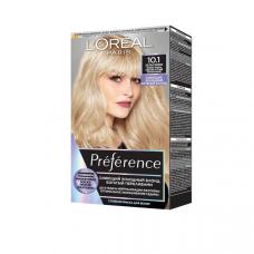 """L'Oréal Paris (Лореаль Париж)  Стойкая краска для волос """"Préférence Cool Blondes"""" (Преферанс холодные оттенки), оттенок 10.1, Хельсинки"""
