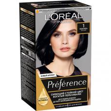 """Garnier (Гарньер) Стойкая крем-краска для волос """"Olia""""(Олия) с цветочными маслами, без аммиака, оттенок 1.0, Глубокий черный, 160 мл."""
