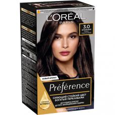 """L'Oreal Paris (Лореаль) Стойкая краска для волос """"Preference""""( Преферанс), оттенок 3, Бразилия"""