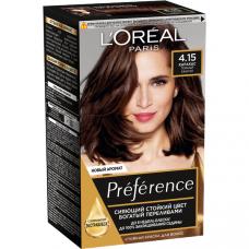 """L'Oreal Paris (Лореаль) Стойкая краска для волос """"Preference"""" (Преферанс), оттенок 4.15, Каракас"""