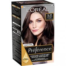"""L'Oreal Paris Стойкая краска для волос """"Preference"""", оттенок 5.21, Нотр-Дам"""